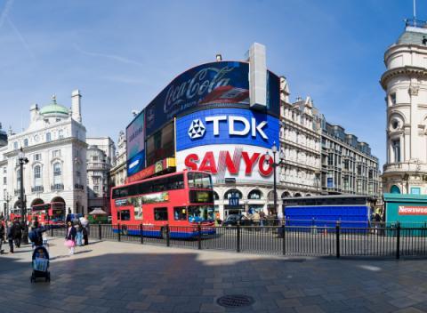 Panorama van Piccadilly Circus