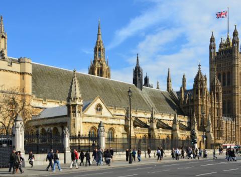 Het oudste gedeelte van Westminster Palace