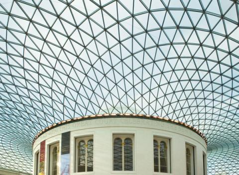 Het binnenplein van het British Museum