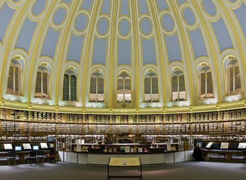 Bibliotheek in het British Museum