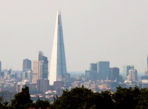De nieuwe skyline van Londen met The Shard