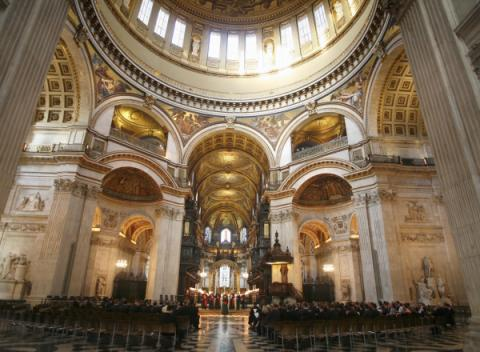 Interieur van St.Paul's Cathedral