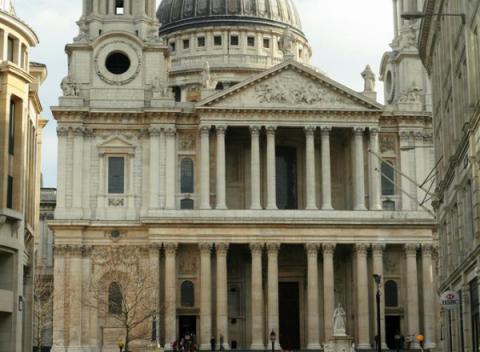 Voorzijde St.Paul's Cathedral